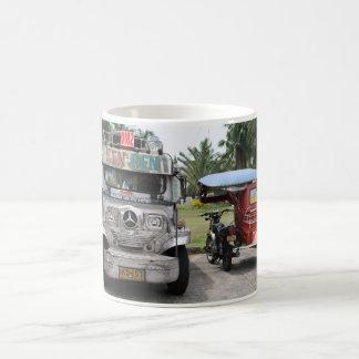 Jeepney and tricycle coffee mug