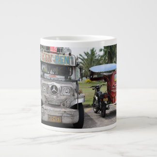 Jeepney and tricycle jumbo mugs