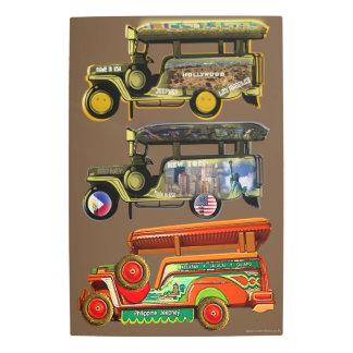 Jeepneys - Philippines, New York, Hollywood Metal Print