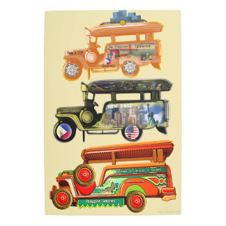 Jeepneys - Philippines, New York, San Francisco Metal Print