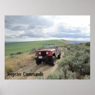 Jeepster en la colina poster