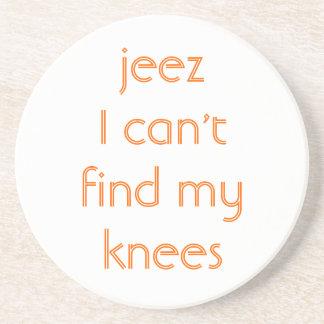 Jeeze, mis rodillas posavasos manualidades