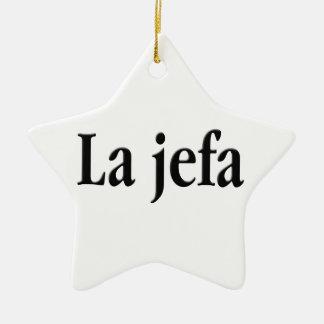 Jefa del La Adorno Navideño De Cerámica En Forma De Estrella