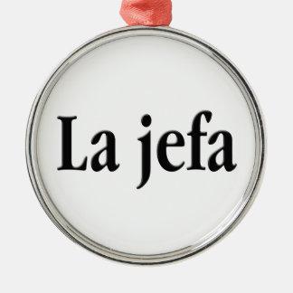Jefa del La Adorno Navideño Redondo De Metal