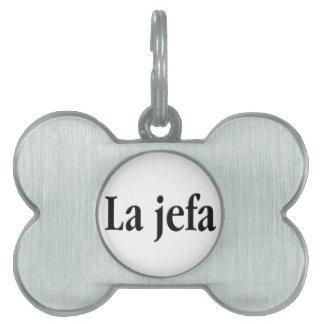 Jefa del La Placa De Mascota