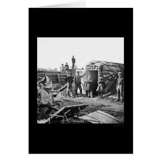Jefaturas a prueba de bombas en el fuerte Burnham Tarjeta De Felicitación