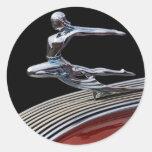 Jefe 1935 de Pontiac Etiquetas Redondas