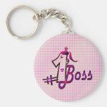 jefe #1 llavero redondo tipo pin