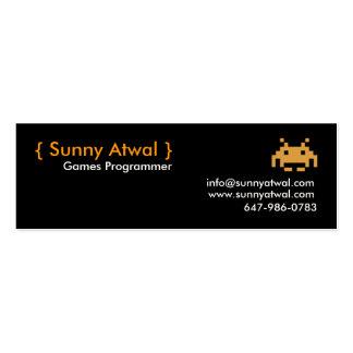 jefe, {Atwal soleado}, programador de los juegos, Tarjetas De Visita Mini