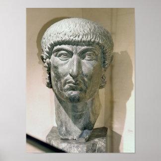Jefe colosal del emperador Constantina I Impresiones