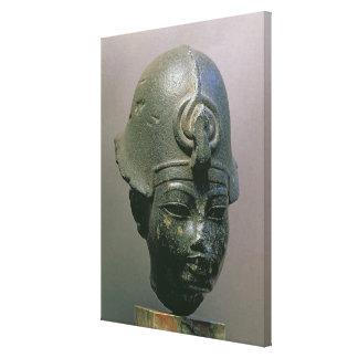 Jefe de Amenophis III diorita Lienzo Envuelto Para Galerías