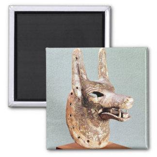 Jefe de Anubis, con un mandíbula con bisagras Imán Cuadrado
