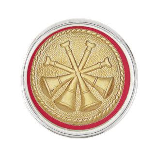 Jefe de bomberos 4 bugle del medallón del diputado insignia