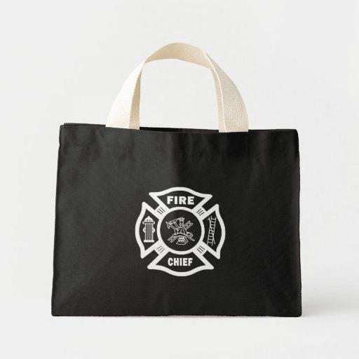 Jefe de bomberos bolsa tela pequeña