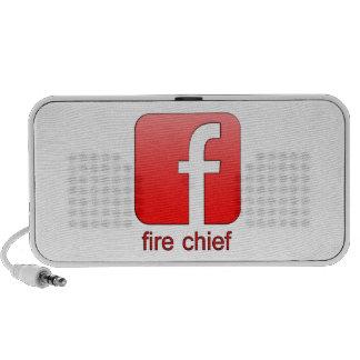 Jefe de bomberos de Facebook del logotipo de la Altavoces