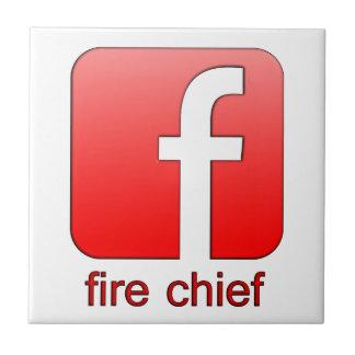 Jefe de bomberos de Facebook del logotipo de la Azulejo Cerámica