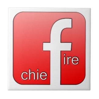 Jefe de bomberos de Facebook del regalo único del Azulejos Cerámicos
