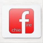Jefe de bomberos de Facebook del regalo único del Tapete De Ratones