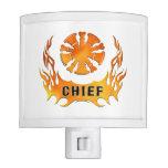 Jefe de bomberos de las llamas