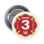 Jefe de bomberos del botón de la insignia pin