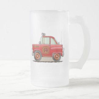 Jefe de bomberos del coche de la taza del vidrio e