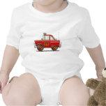 Jefe de bomberos del coche del bombero del bombero traje de bebé