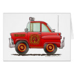 Jefe de bomberos del coche del bombero del bombero tarjeton