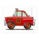 Jefe de bomberos del coche del bombero del bombero postales