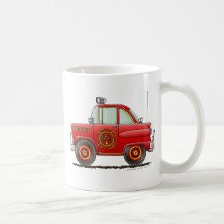Jefe de bomberos del coche del bombero del bombero taza de café