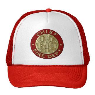 Jefe de bomberos del gorra…. gorros bordados