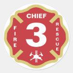 Jefe de bomberos del pegatina de la insignia