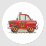 Jefe de bomberos del pegatina del coche