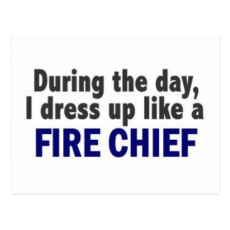 Jefe de bomberos durante el día postales