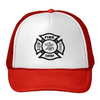 Jefe de bomberos gorro de camionero