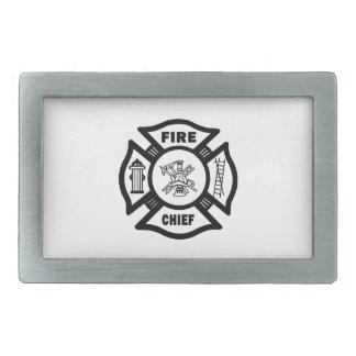 Jefe de bomberos hebilla de cinturón rectangular