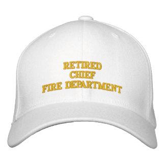 Jefe de bomberos jubilado del gorra gorras bordadas
