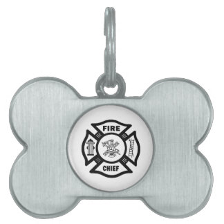 Jefe de bomberos placas mascota