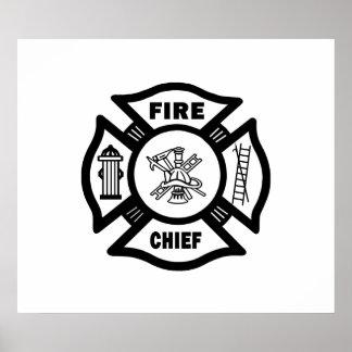 Jefe de bomberos impresiones