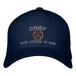 Jefe de bomberos personalizado del bordado de gorra de béisbol bordada