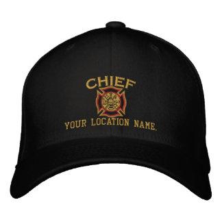 Jefe de bomberos personalizado del bordado de gorra bordada