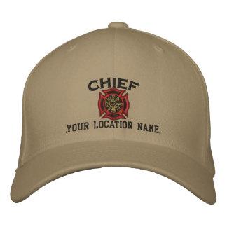 Jefe de bomberos personalizado del bordado de gorras de beisbol bordadas