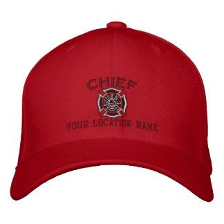 Jefe de bomberos personalizado del bordado de gorros bordados