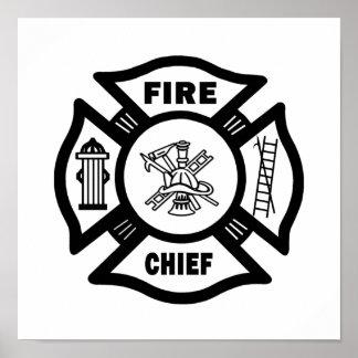 Jefe de bomberos póster