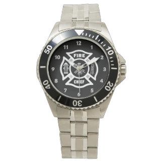 Jefe de bomberos reloj de mano