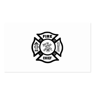 Jefe de bomberos tarjetas de visita