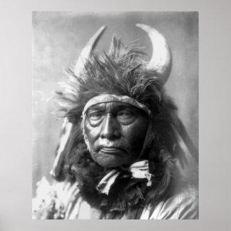 Jefe de Bull -- Apsaroke 1908 Posters