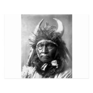 Jefe de Bull -- Apsaroke: 1908 Tarjeta Postal