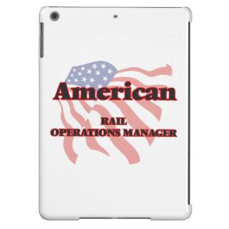 Jefe de explotación americano del carril funda para iPad air