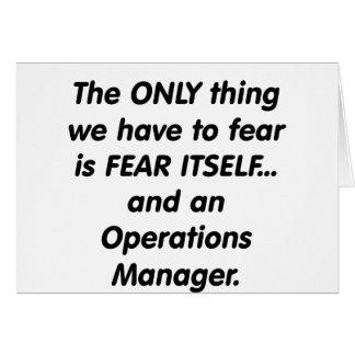jefe de explotación del miedo tarjeta de felicitación