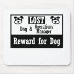 Jefe de explotación perdido del perro tapetes de ratón